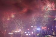香港举行贺岁烟花汇演