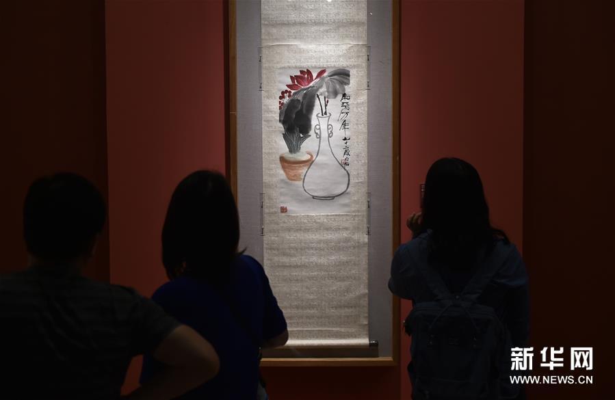 """(文化)(6)""""亚洲文明联展(艺术展):大道融通——亚洲艺术作品展""""在中国美术馆开幕"""