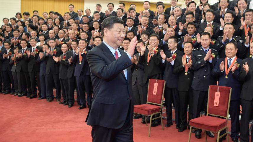 习近平见受表彰公务员个人和集体代表