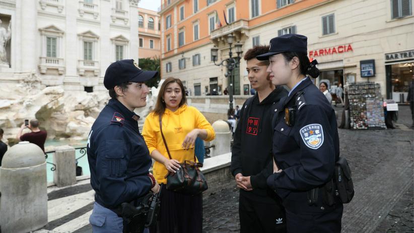 2019年中意警务联合巡逻在意联巡启动
