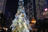 香港:与圣诞树合影